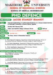 Jacob Stanley Iramiot's PhD